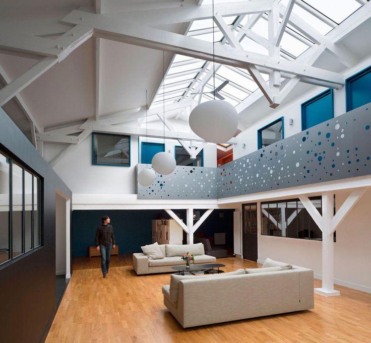 Old Carpentry Turned Into Chic Contemporary Loft In Paris By Agnès Et Agnès    CAANdesign   Part 53