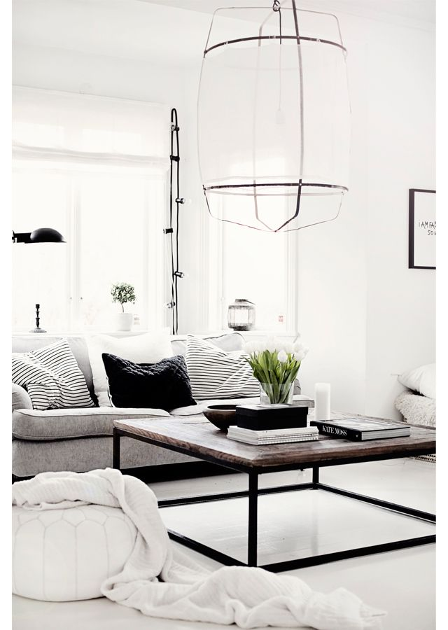 Beautiful living room via the blog A Concept by Anna. Photo by Anna Kvarnström.