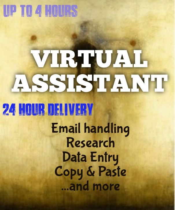 be your Virtual Assistant for 3 hours with 24 hour delivery by coffeerose