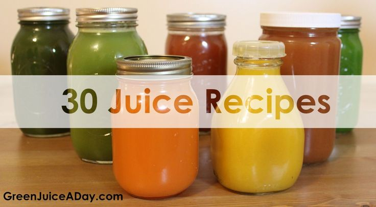 30 Green Juice Recipes http://www.greenjuiceaday.com/30-green-juice-recipes/ 30 Free green juice recipes with many health benefits, including weight loss, anti-inflammation, increased energy and a natural boost to immunity. #Juicing #GreenJuice