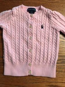 Ralph Lauren Toddler Girls Size 2T Pink Cardigan  Sweater  | eBay