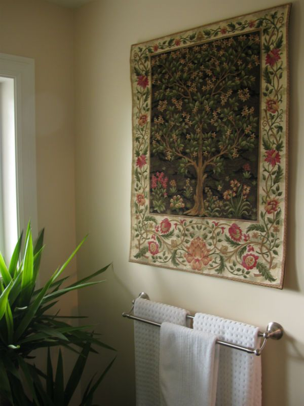 This Willliam Morris Tree of Life wall tapestry is woven in earth tones, in three sizes.