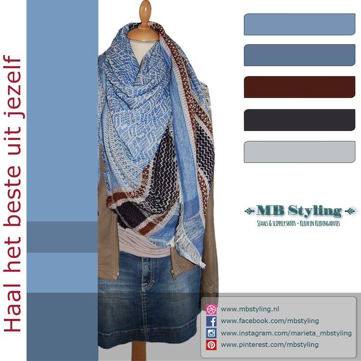 Heerlijke voorjaarssjaal van het deense merk Becksondergaard. Draag deze vierkante sjaal over een jasje of vest en klaar ben je. Bestel op:   #becksondergaardsjaal #sjaal #shawl