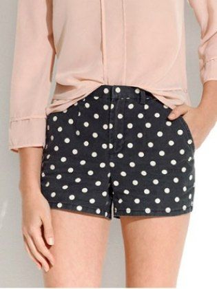 Shorts............... As temperatures heat up, hemlines will follow suit. These polka dot shorts are cute and on point for spring. Madewell Artdot Shorts, $59.50, madewell.com