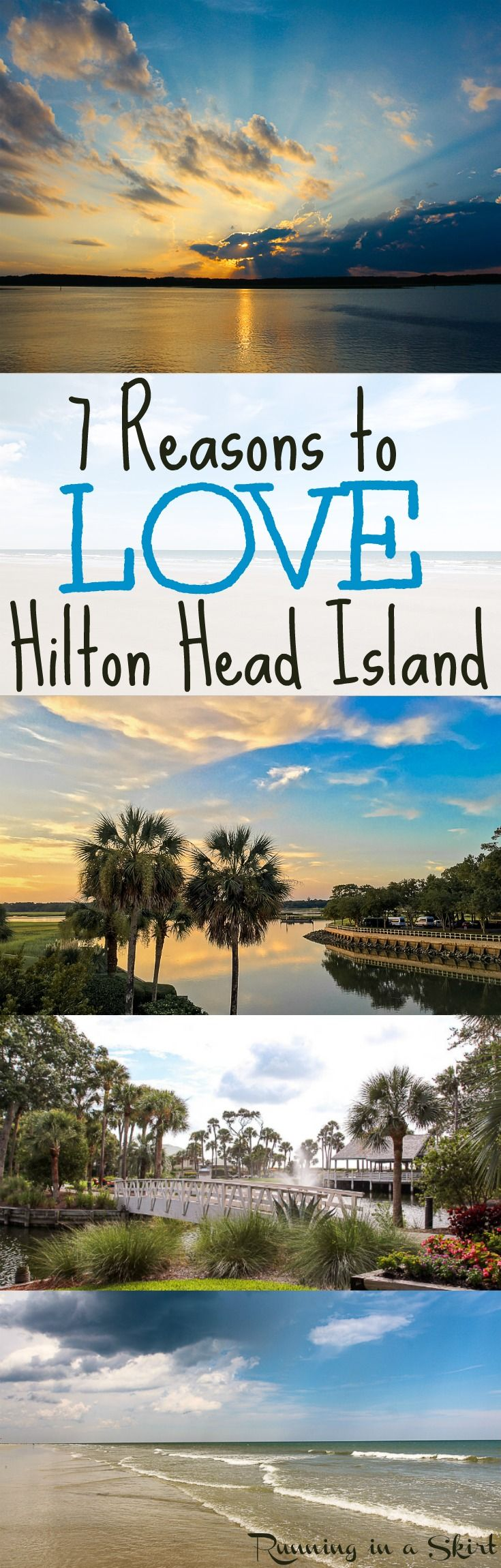 Fun Things To Do at Hilton Head Island including gorgeous beaches, hotels, resorts (Sonesta Resort) and food / restaurnats (lots of seafood!)  Stunning photography of the south's favorite island!| Running in a Skirt