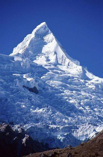 Alpamayo Peak in the Cordillera Blanca, Peru