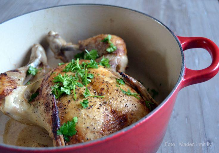 Gammeldags, grydestegt kylling med persille – det er sådan noget, der rimer på sommer, lange varme søndage og mormormad. Jeg har fået fortalt, at det der med grydestegt kylling gik lidt af mode, efter man fik komfurer med ovne, for pludselig var det jo meget nemmere, bare at smække kræet i ovnen og når man …