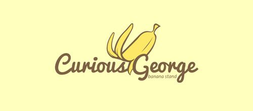 curious banana stand logo designs