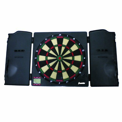 Franklin Sports FS3000 Electronic Round Dartboard with Cabinet by Franklin. $24.99. Franklin Electronic Dartboard with cabinet includes 6 soft tip darts and 12 replacement tips. It features 25 games with 176 variations. The navigation is easy with quick 301 and cricket buttons. Plus a sleek design and cool sound effects.