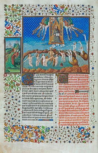 Le jugement dernier, f.44v, attribuée à Jean Colombe Apocalypse figurée des ducs de Savoie