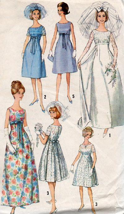 1960s Wedding and Bridesmaid Dresses