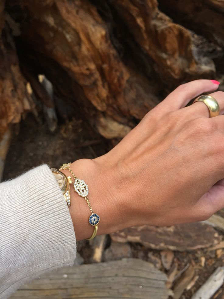 Charm'ed Collection  STAR/HAND/EYE Bracelet  Wear it all day:-)