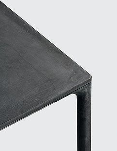 ❤ Boiacca indoor/outdoor table by the creative couple LucidiPevere for kristalia.  Cement with a special formula and internal reinforcements in stainless steel; the cement legs are incredibly thin, elegant and resistant.