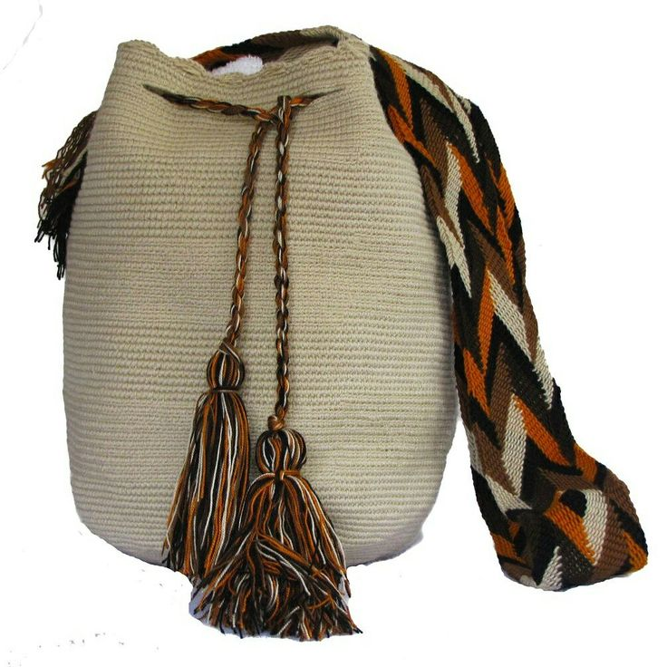 Spring Unicolor Wayuu Bag Pale Beige