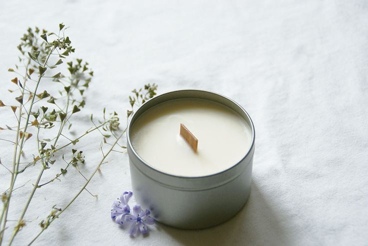Soy Wax Travel Candle with Woodwick - Woven by Wander