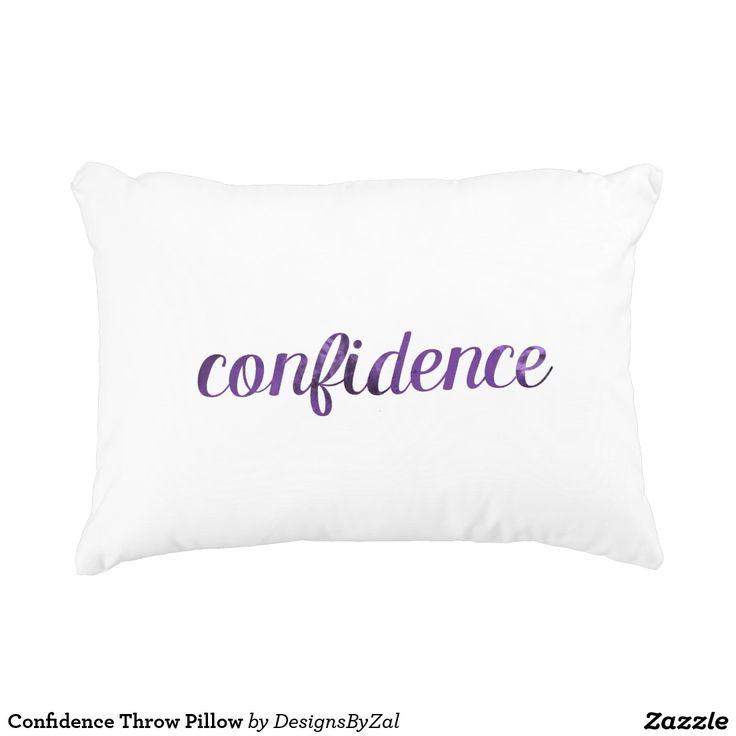 Confidence Throw Pillow