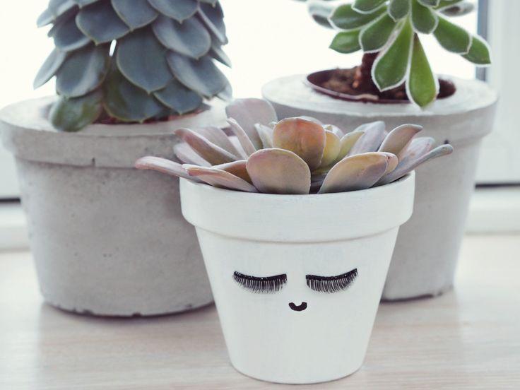 Video tutorial: Lav en DIY urtepotte med kunstige øjenvipper - DIY eyelash planter