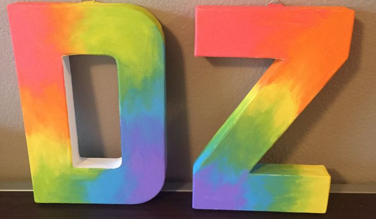 Big little crafts sorority delta zeta letters tie die crafts canvas