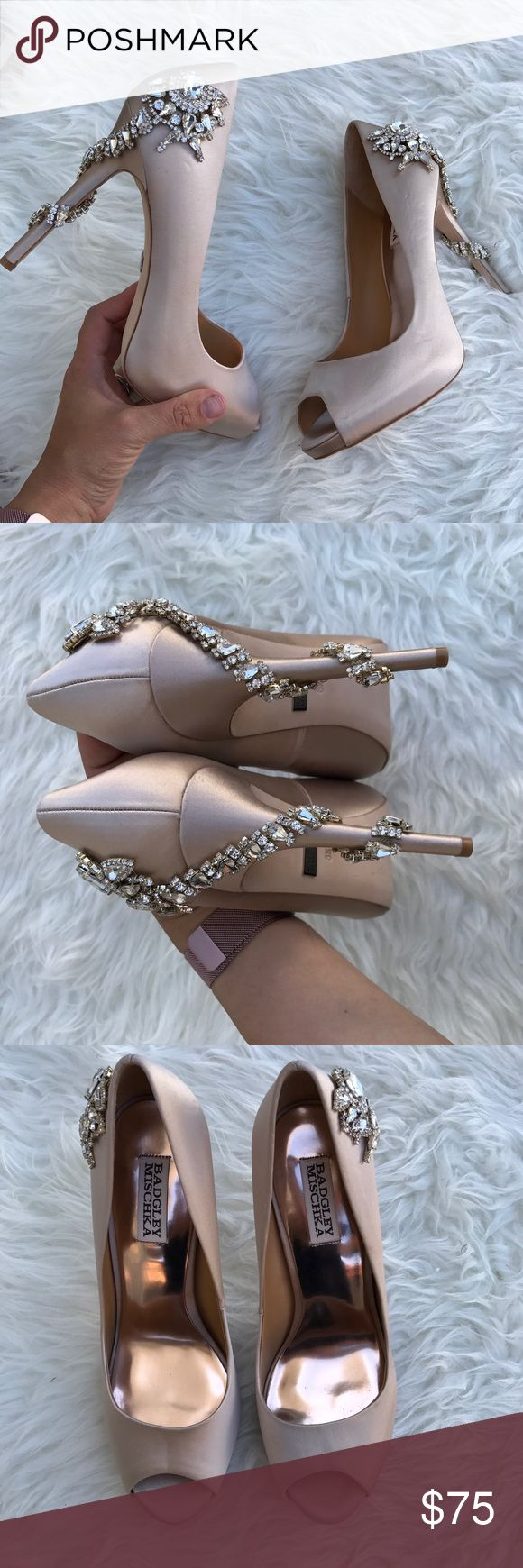 BADGLEY MISCHKA JEWELED pumps Sz 8.5 New BADGLEY MISCHKA JEWELED pumps Sz 8.5 New without box ! STORE DISPLAY! Store display !!!! PLEASE REVIEW PICTURES SINCE THEYRE THE BEST DESCRIPTION OF THE ITEM ! itemcloset#dozer Badgley Mischka Shoes