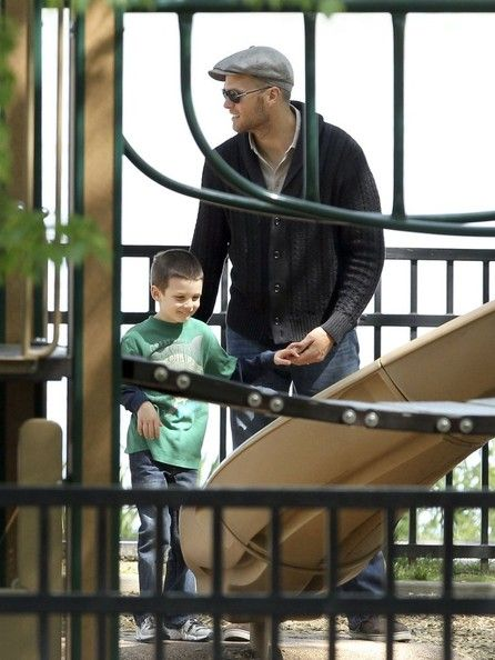 Tom Brady and John Edward Thomas Moynahan - Tom Brady Spends the Day with His Boys