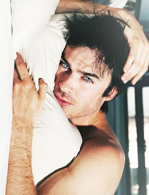 Ian Somerhalder. Just look at his gorgeousness; imagine waking up to this in the morning.