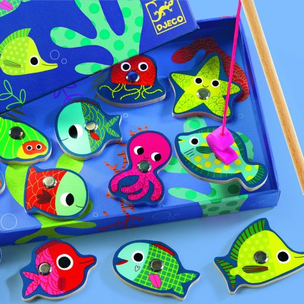 """Djeco Παιχνίδι Μαγνητικό Ψάρεμα """"Πολύχρωμα ψάρια"""""""