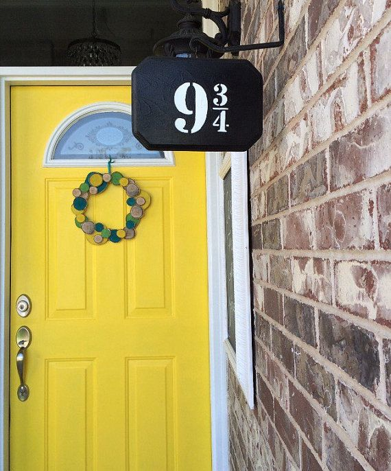 Harry Potter Platform 9 3/4 sign//Platform by GreenOnTheVineDesign