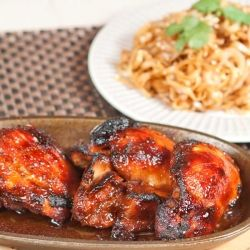 Sticky Chinese chicken Marinade with chinese 5 spice, soy sauce & honey