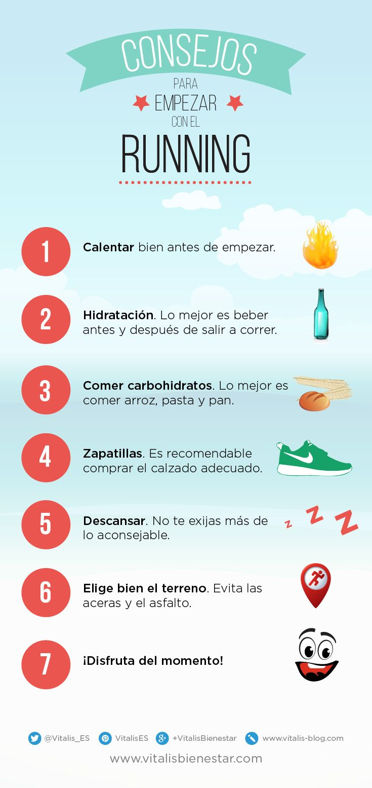 #Infografia Consejos para empezar a hacer running #bienestar
