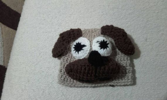 Check out this item in my Etsy shop https://www.etsy.com/uk/listing/490836839/crochet-pug-hat-baby-pug-hat-newborn-pug