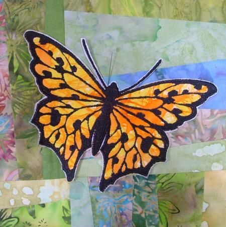 Advanced Embroidery Designs.  Applique Butterflies . Instructions on machine embroidered applique designs.