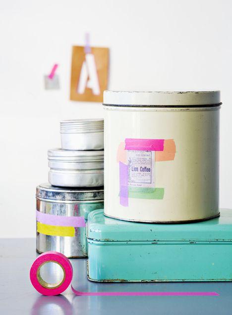 tape it: De Ideas, Tape Ideas, Masks Tape, Washi Washi, Washi Tape, Create Crafts Design Make Diy, Tape Tins, Ideas Washi, Interiors Ideas