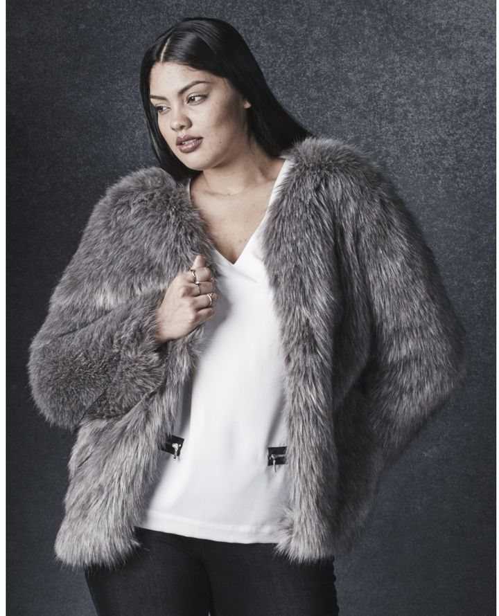 d8ab615e9a282 Simply Be Tipped Faux Fur Jacket