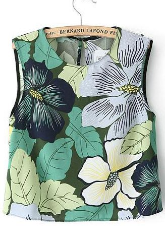 Shop Green Sleeveless Leaves Print Crop Vest online. Sheinside offers Green Sleeveless Leaves Print Crop Vest & more to fit your fashionable needs. Free Shipping Worldwide!