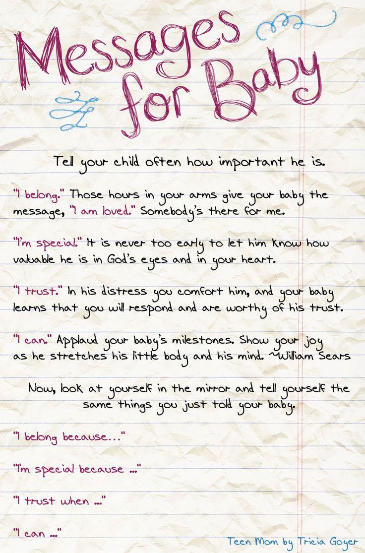 Teen mother encouragement