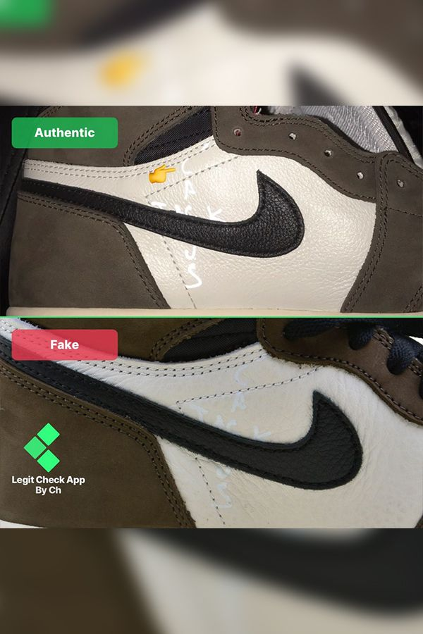 How To Spot The Fake Vs Real Travis Scott Jordan 1 12 Ways With
