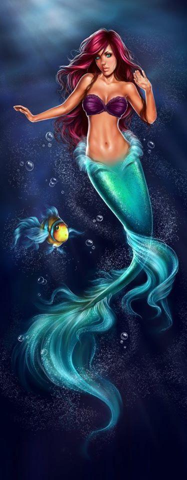 Jolie petite sirène qui ondule au coeur des vagues ... Ariel <3                                                                                                                                                      More