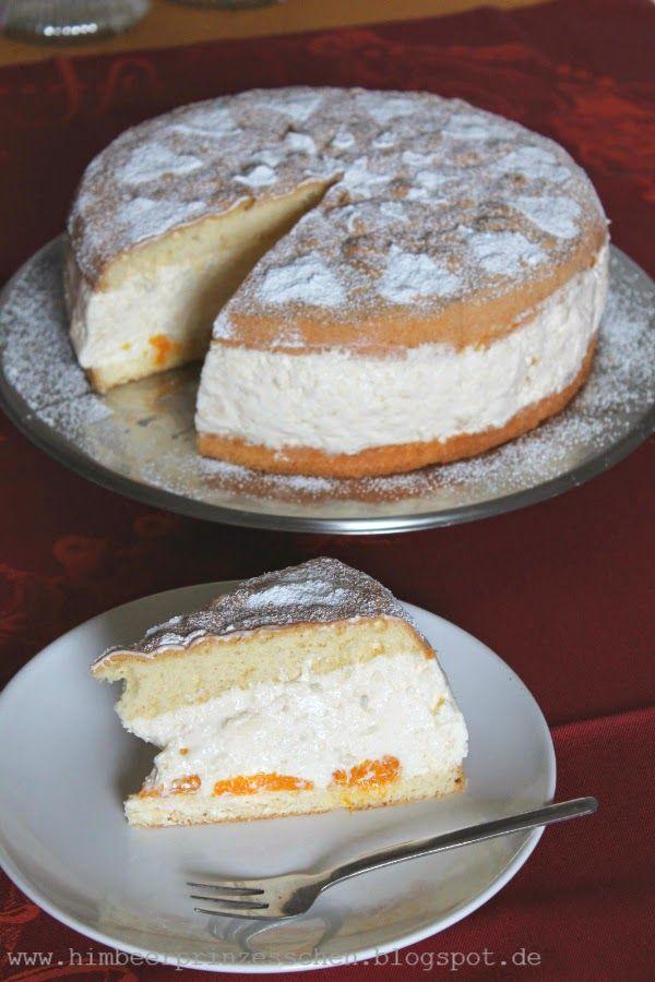 Käse sahne Mandarine mit eischnee