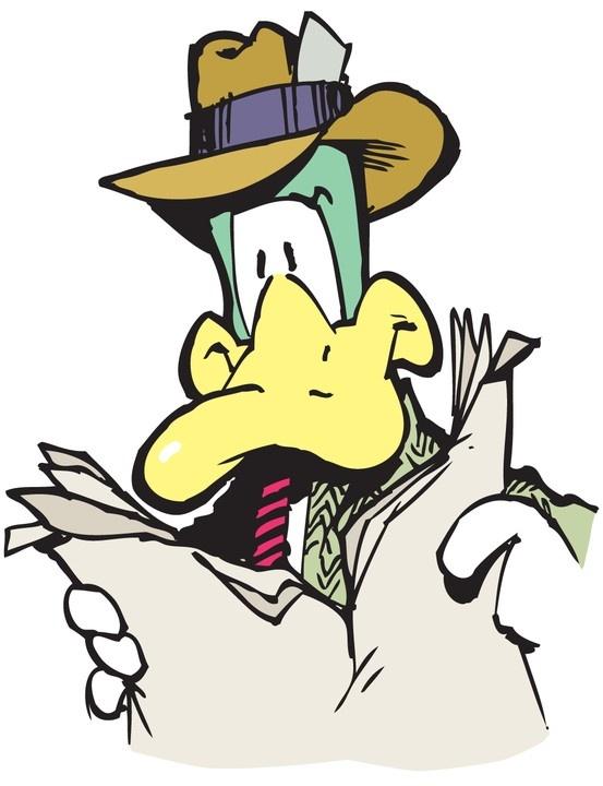 Comic duck filmore strip
