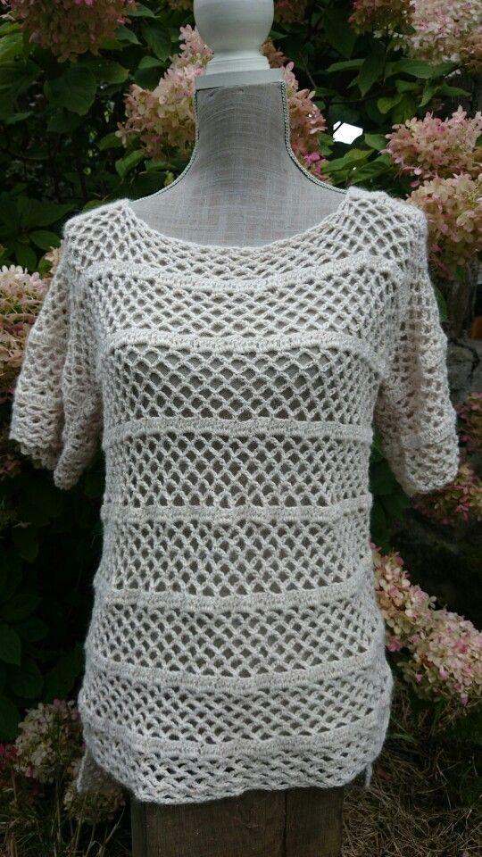 Pull en alpaga création Cathylf laine sierra andina de chez Adriafil