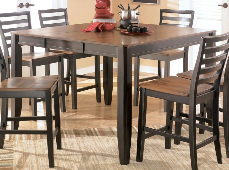 PUB TABLE Signature Design By Ashley Alonzo Counter Height Butterfly Leaf Table