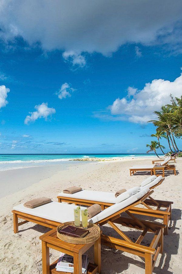 The Beautiful White Sandy Beach Of Sandals Resort In Barbados