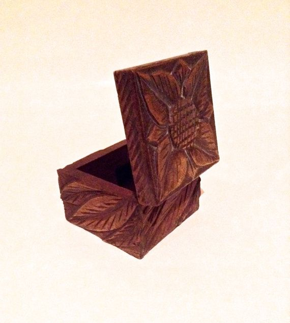 Hand carved box  £11.37