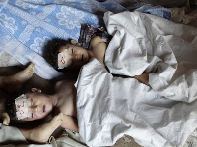 Report: Children Gassed In Syria Kidnapped By 'Rebels' Weeks Earlier