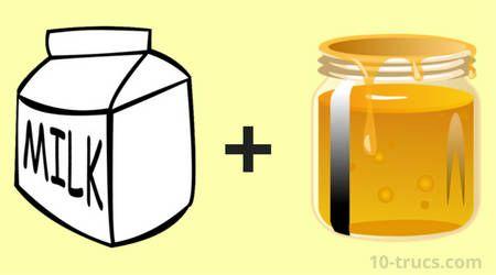 Remède de lait chaud et miel pour soigner le mal de gorge!