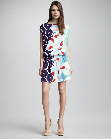 Tomori Boat Neck Print Dress by DVF via supply #Dress #DVF #Svpply