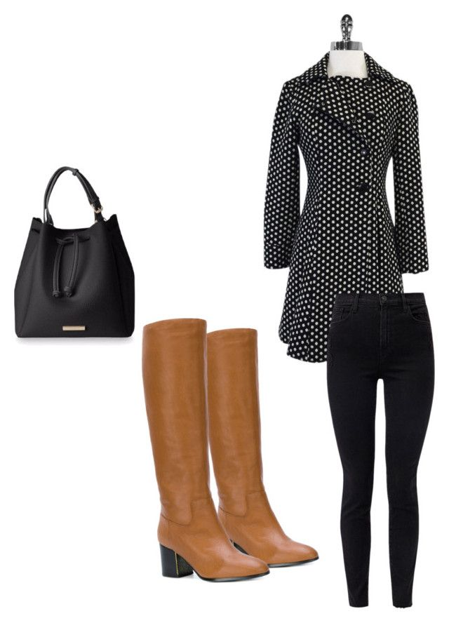 """""""dots"""" by chantallb on Polyvore featuring Moschino, J Brand and Jil Sander Navy"""