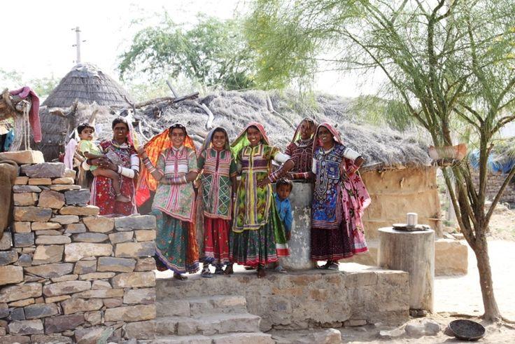 Popolazioni remoti villaggi Great Rann of Kutch Foto di Samuele Fracasso