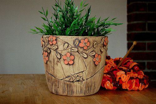 velký květináč-pnoucí oranžová kyti-na objednávku! / Zboží prodejce lavender   Fler.cz