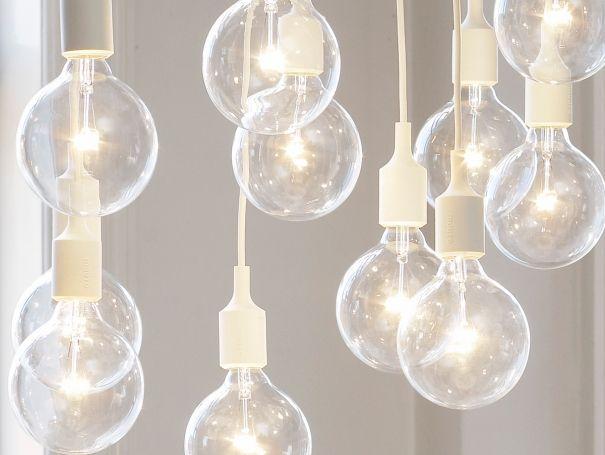 E27 White chandelier cluster pendant lights by Muuto